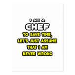 Camisetas y regalos divertidos del cocinero tarjetas postales