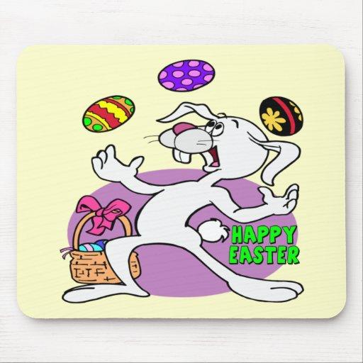 Camisetas y regalos divertidos del conejito de pas tapetes de ratón