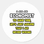 Camisetas y regalos divertidos del economista etiquetas redondas