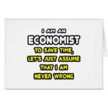 Camisetas y regalos divertidos del economista tarjeta