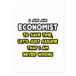 Camisetas y regalos divertidos del economista tarjetas postales