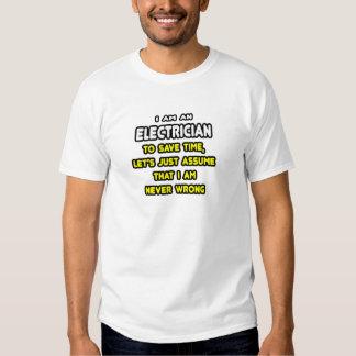 Camisetas y regalos divertidos del electricista remera