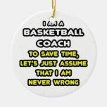 Camisetas y regalos divertidos del entrenador de b adorno para reyes