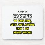 Camisetas y regalos divertidos del granjero tapetes de raton
