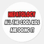Camisetas y regalos divertidos del Hepatologist Etiqueta Redonda