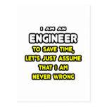 Camisetas y regalos divertidos del ingeniero postal