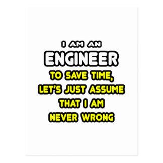 Camisetas y regalos divertidos del ingeniero tarjeta postal