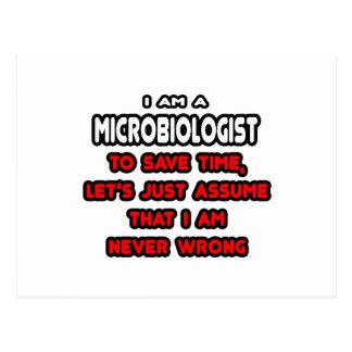 Camisetas y regalos divertidos del microbiólogo tarjeta postal