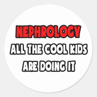 Camisetas y regalos divertidos del nefrólogo pegatina redonda
