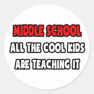 Camisetas y regalos divertidos del profesor de esc etiquetas redondas