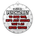 Camisetas y regalos divertidos del psiquiatra tablero dardos