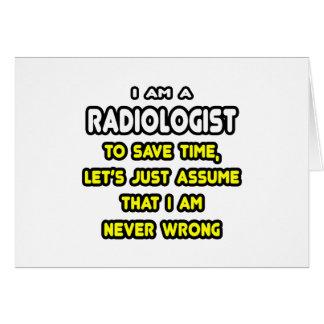 Camisetas y regalos divertidos del radiólogo felicitación