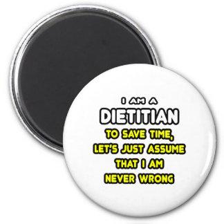 Camisetas y regalos divertidos el dietético imán redondo 5 cm