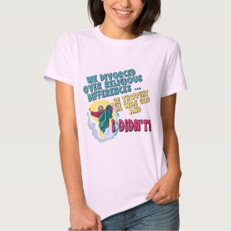 Camisetas y regalos divorciados divertidos para poleras