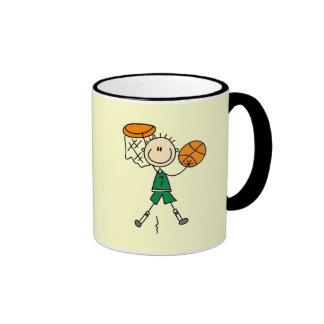 Camisetas y regalos Dunking del baloncesto de los Taza A Dos Colores