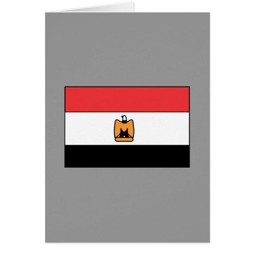 Camisetas y regalos egipcios de la bandera tarjetas