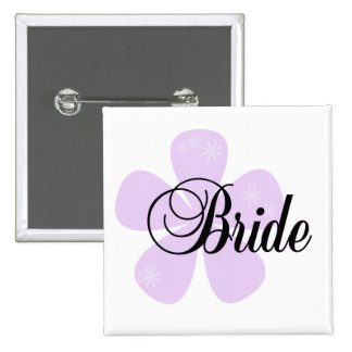Camisetas y regalos en colores pastel de la novia  pin cuadrada 5 cm