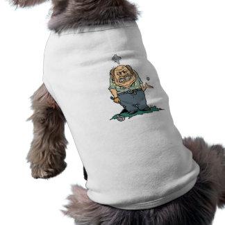 Camisetas y regalos enojados del golfista camiseta de perro