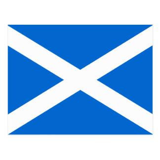 Camisetas y regalos escoceses de la bandera tarjeta postal