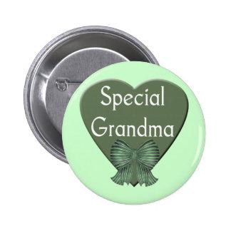 Camisetas y regalos especiales de la abuela para e pin redondo de 2 pulgadas