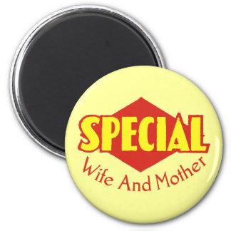 Camisetas y regalos especiales de la mamá imán redondo 5 cm