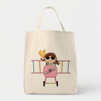 Camisetas y regalos experimentales del chica bolsas lienzo