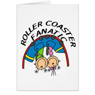 Camisetas y regalos fanáticos de la montaña rusa tarjeta de felicitación