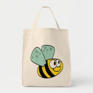 Camisetas y regalos felices amarillos de la abeja bolsa de mano