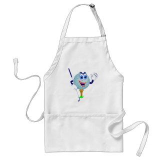 Camisetas y regalos felices de la pelota de golf delantal