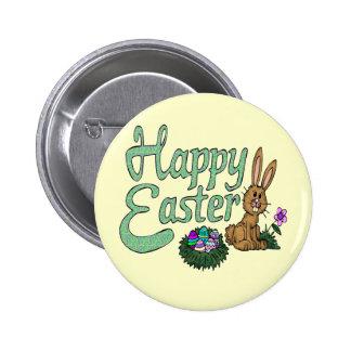 Camisetas y regalos felices de Pascua Pin Redondo 5 Cm