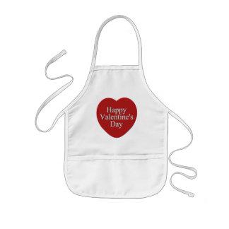 Camisetas y regalos felices del día de San Valentí Delantal Infantil