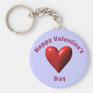 Camisetas y regalos felices del día de San Valentí Llavero Redondo Tipo Pin