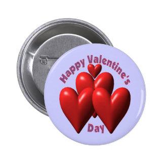 Camisetas y regalos felices del día de San Valentí Pin Redondo De 2 Pulgadas