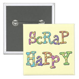 Camisetas y regalos felices del pedazo pin cuadrado