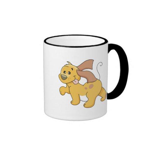 Camisetas y regalos felices del perro de Brown Taza A Dos Colores