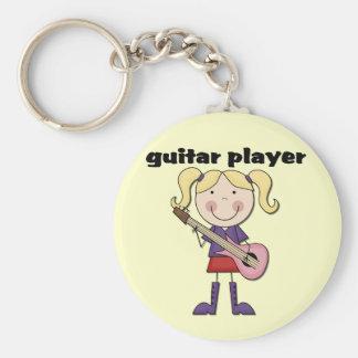 Camisetas y regalos femeninos del guitarrista llaveros