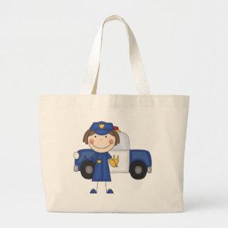 Camisetas y regalos femeninos del oficial de polic bolsas