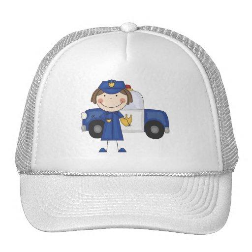Camisetas y regalos femeninos del oficial de polic gorra