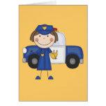 Camisetas y regalos femeninos del oficial de polic tarjeta
