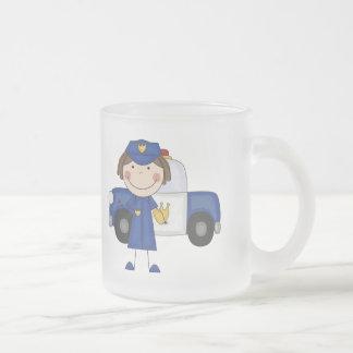 Camisetas y regalos femeninos del oficial de polic taza