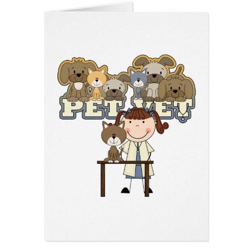 Camisetas y regalos femeninos triguenos del veteri tarjeta de felicitación