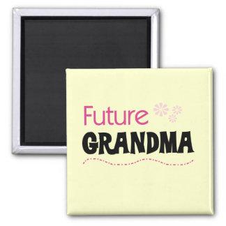 Camisetas y regalos futuros de la abuela imán cuadrado