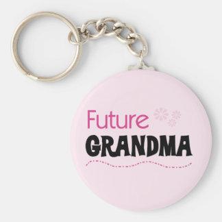 Camisetas y regalos futuros de la abuela llavero redondo tipo pin