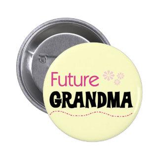 Camisetas y regalos futuros de la abuela pin redondo de 2 pulgadas
