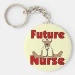 Camisetas y regalos futuros de la enfermera del os llaveros personalizados