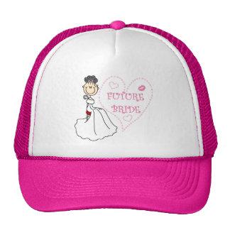 Camisetas y regalos futuros de la novia del pelo gorras de camionero