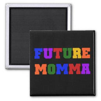 Camisetas y regalos futuros de Momma Imán Cuadrado