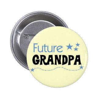 Camisetas y regalos futuros del abuelo pin redondo 5 cm