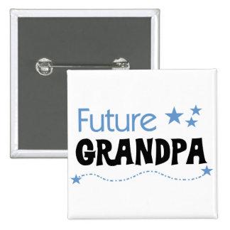 Camisetas y regalos futuros del abuelo pin cuadrado