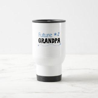 Camisetas y regalos futuros del abuelo taza de viaje de acero inoxidable